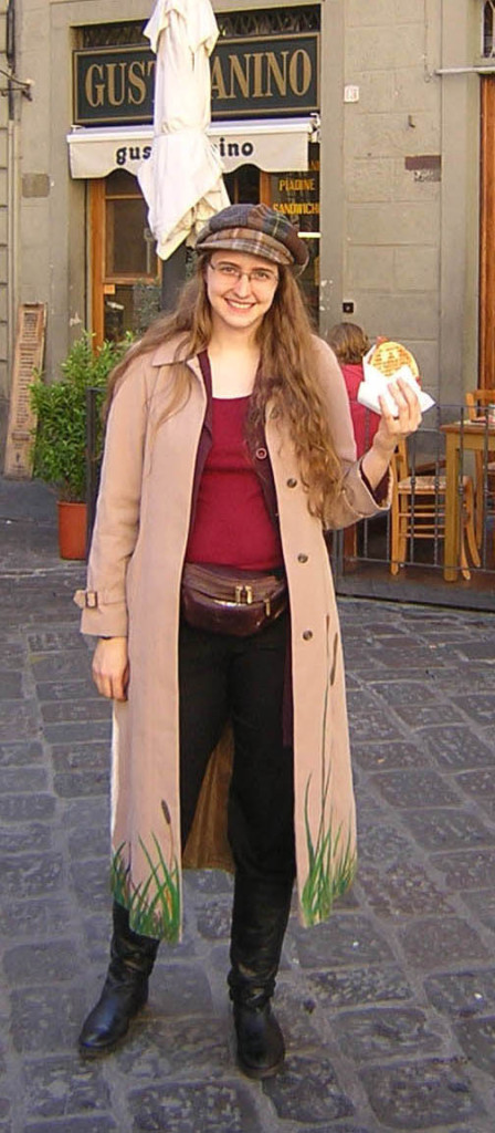 Me in Florence enjoying my favorite panino. Just about perfect.